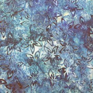 Batik Flowers Dark Blue