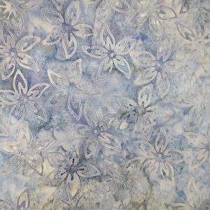 Batik Flowers Light Blue