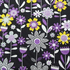 Garden Party 5 Purple Black Yellow