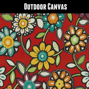 Outdoor Floral Red Green Yellow