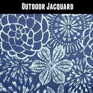 Outdoor Jacquard Blue