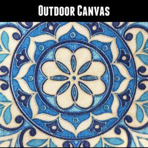 Outdoor Ankara 11 Blue Medallion
