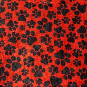 Puppy Party 7 Paw Red Black