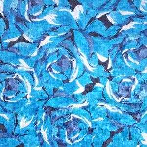 Rose Garden 1 Large Blue On Black