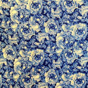 Rose Garden 4 Dark Blue On White