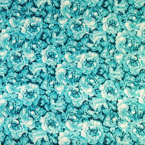 Rose Garden 4 Teal Blue Green