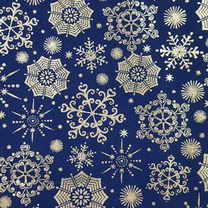 Snowflake 3 Silver Blue