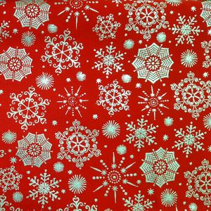 Snowflake 4 Silver Red