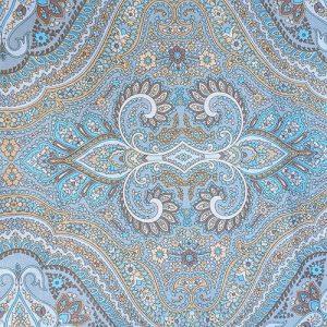 Tapestry Ankara Blue Brown Yellow