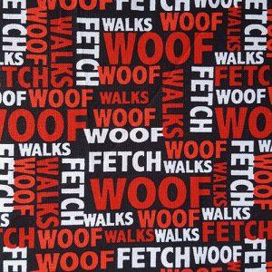 Woof Red Black