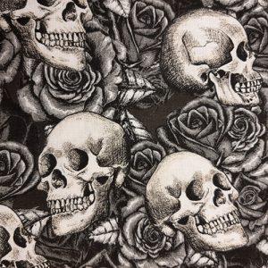 October Skull 1 Black White Halloween