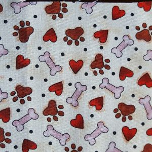 Puppy Heart And Bone Brown Red Pink