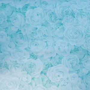 Rose Garden 7 Silver Teal Blue Green